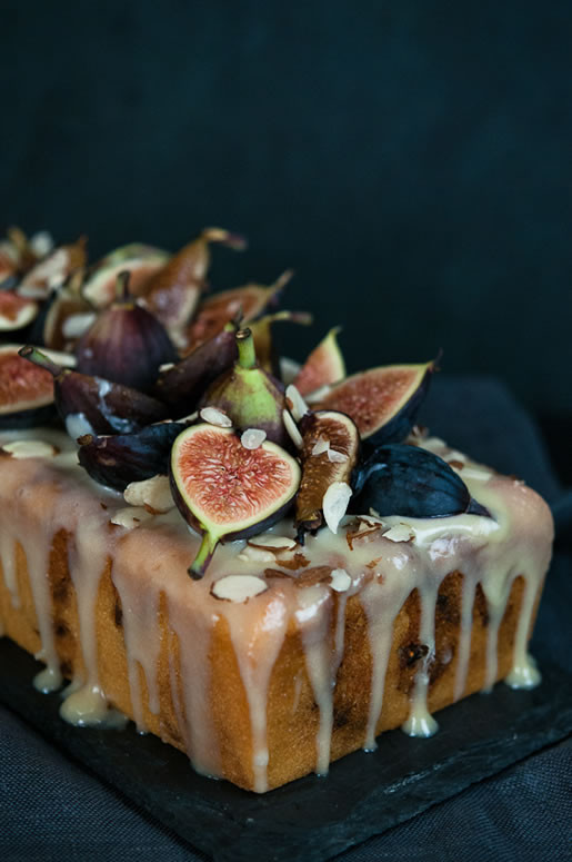 Fig Dessert Recipes  Fig Almond Tea Cake w Coconut Honey Glaze