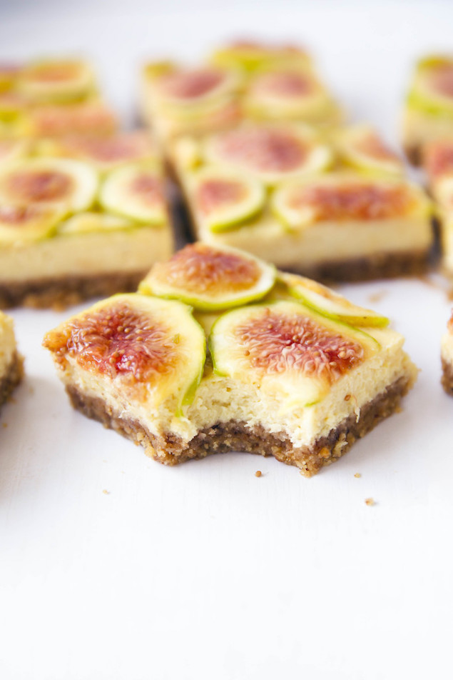 Fig Dessert Recipes  Honey and Fig Cheesecake Bars