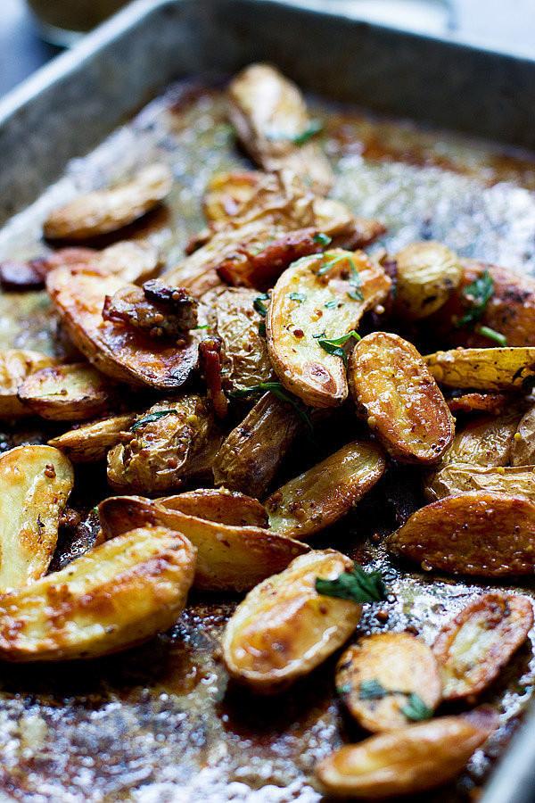 Fingerling Potato Recipes  cheesy oven roasted fingerling fries