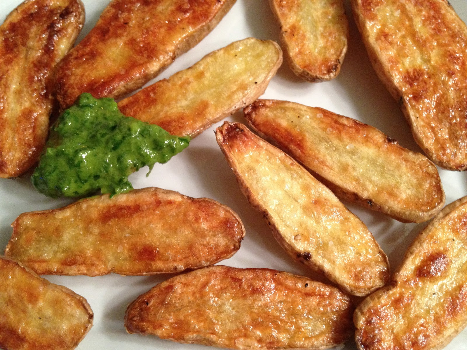 Fingerling Potato Recipes  Roasted Fingerling Potatoes with Chive Dipping Sauce