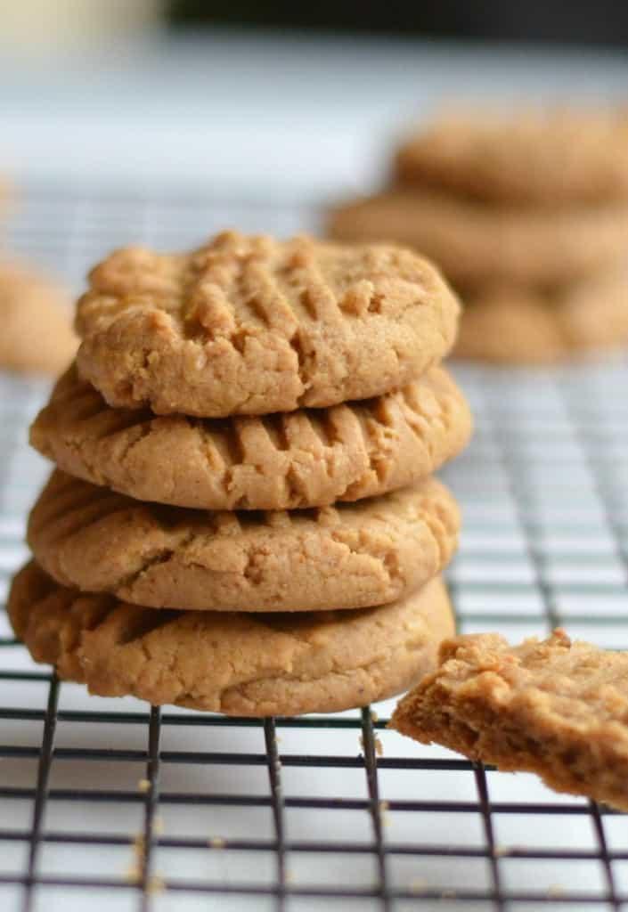 Flourless Peanut Butter Cookies  Flourless Peanut Butter Cookies Happily Unprocessed