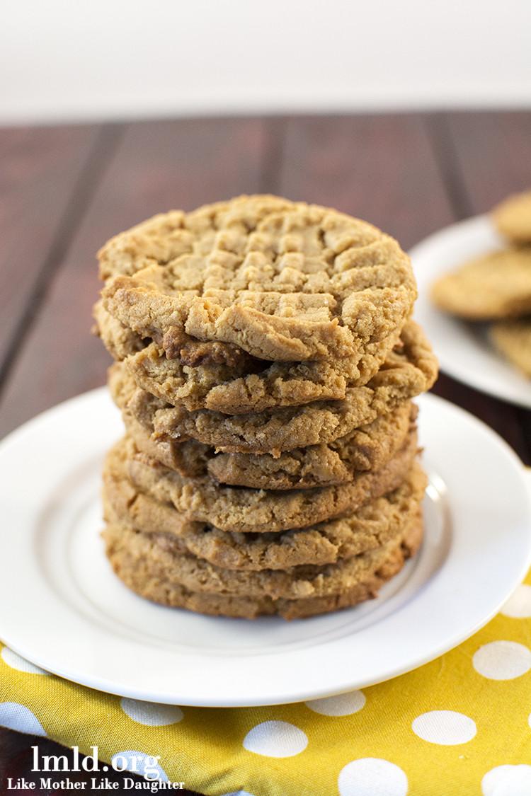 Flourless Peanut Butter Cookies  Flourless Peanut Butter Cookies Like Mother Like Daughter