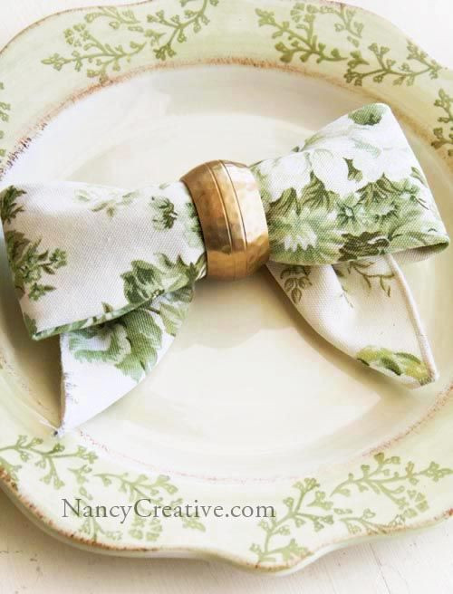 Folded Dinner Napkin  Directions for Bow Folded Napkin Love this Dinner ware ad