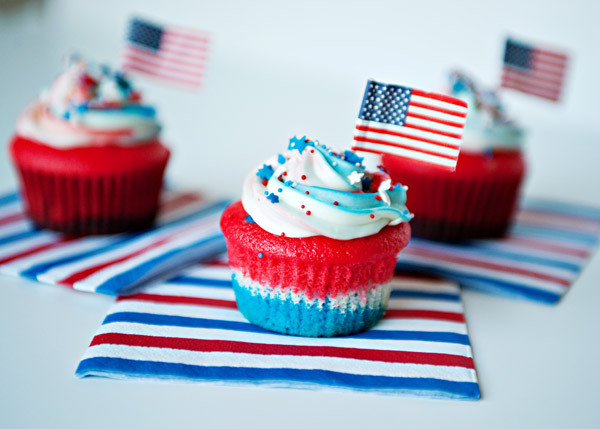 Fourth Of July Cupcakes  4th of July Desserts