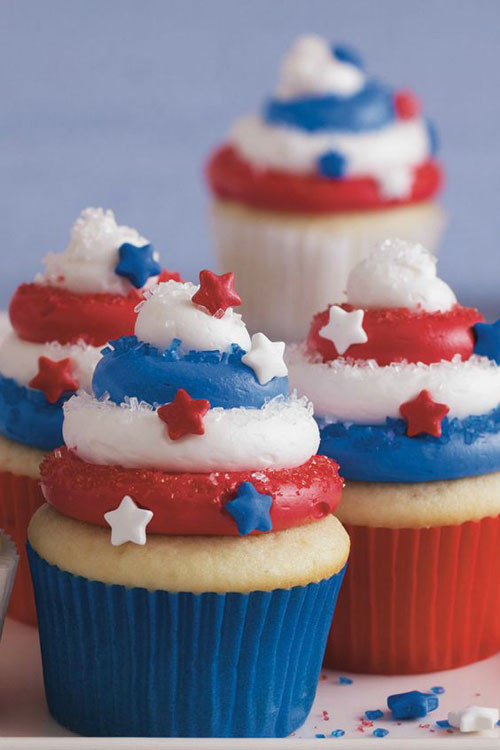 Fourth Of July Cupcakes  50 Best 4th of July Desserts and Treat Ideas