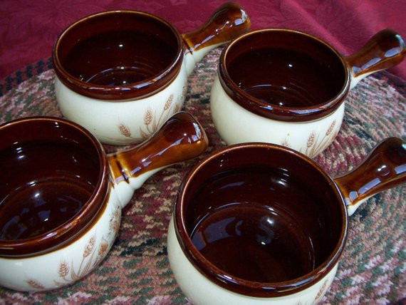 French Onion Soup Bowls  Soup bowls ceramic french onion soup oven proof set of four