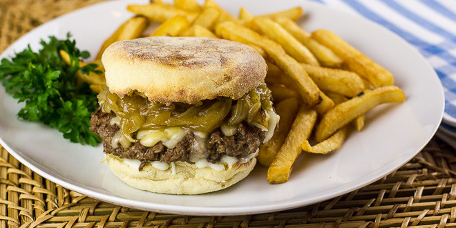 French Onion Soup Burger  French ion Soup Burger