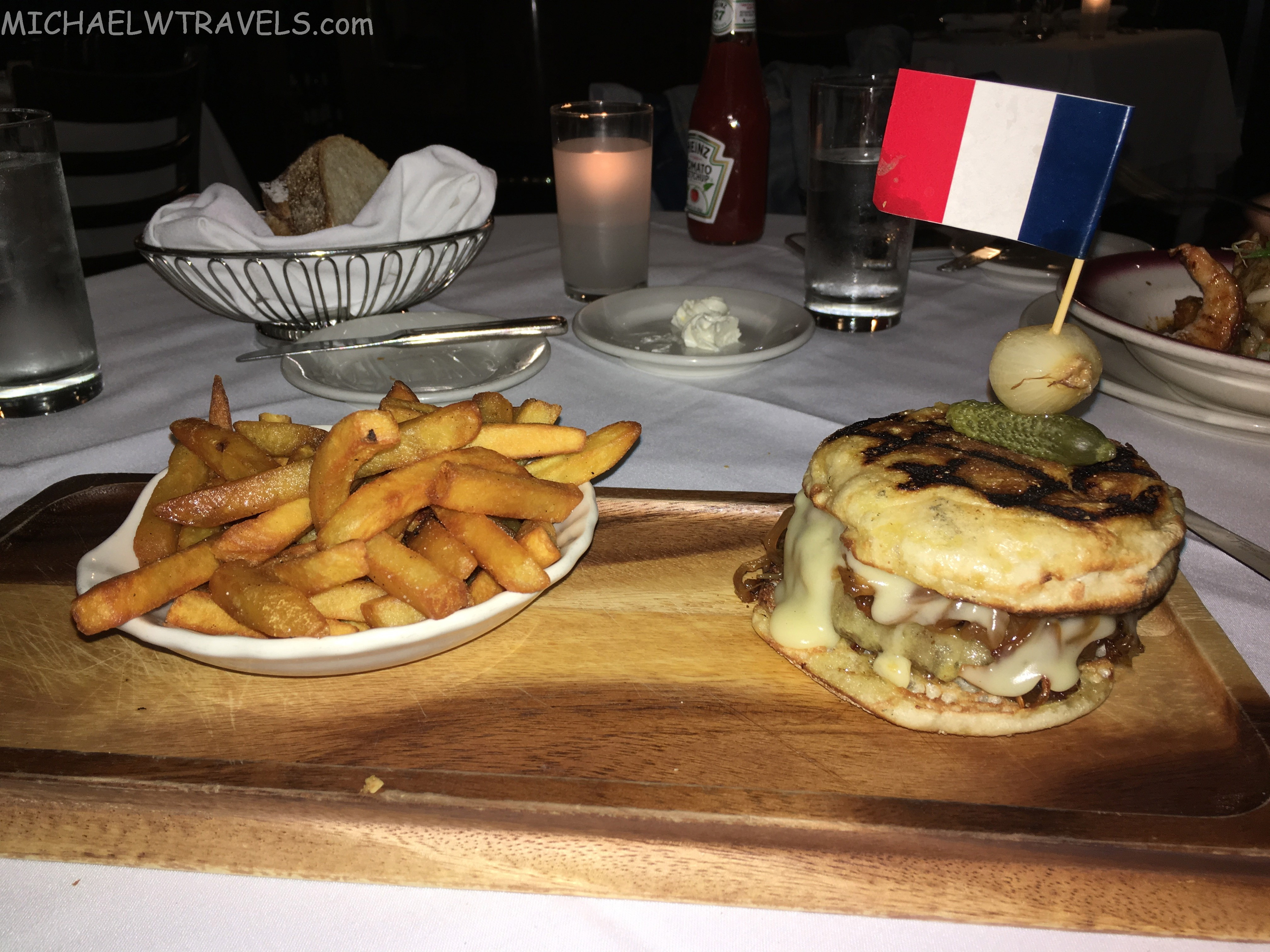 French Onion Soup Burger  The Amazing French ion Soup Burger at Le Rivage NYC 1