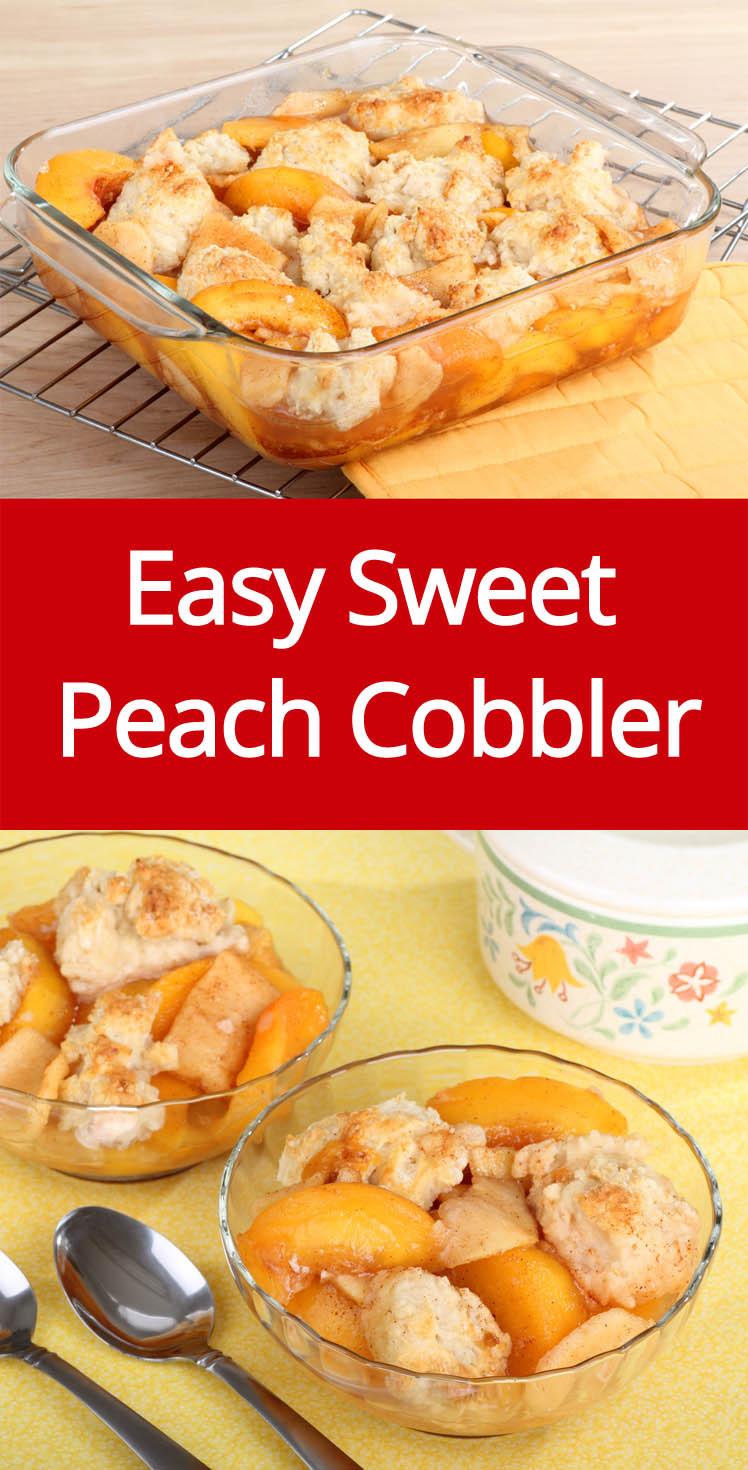 Fresh Peach Desserts Recipes  Easy Peach Cobbler Recipe Made With Fresh Sweet Peaches