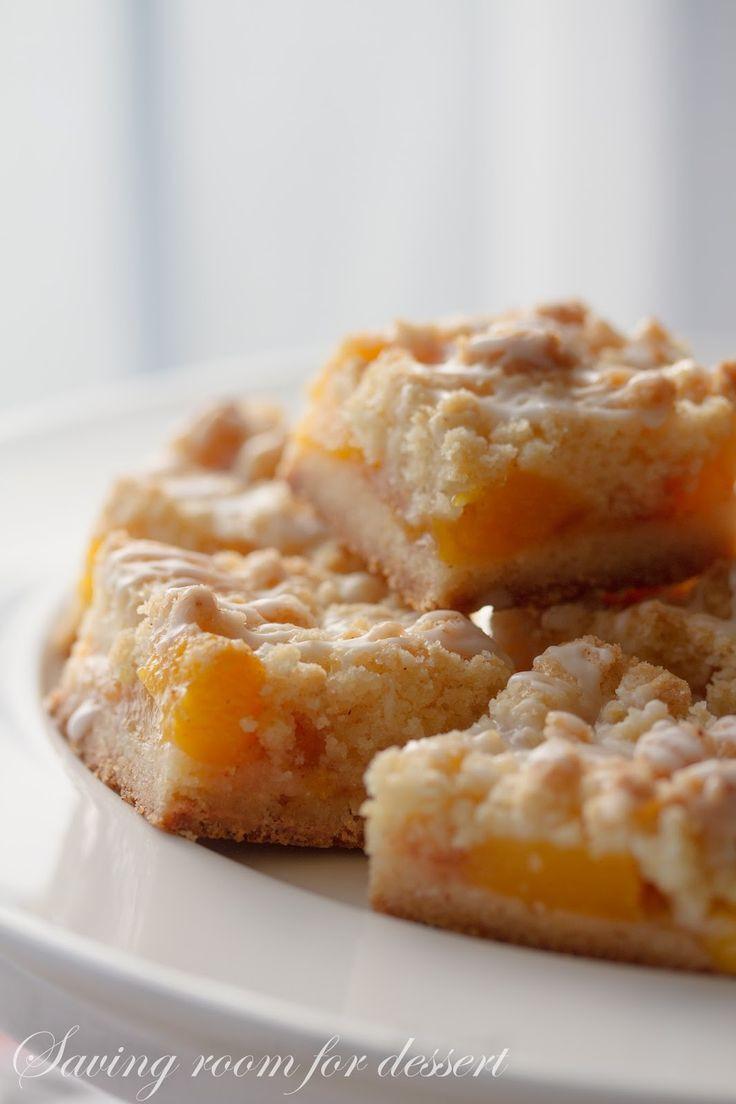 Fresh Peach Desserts Recipes  Saving room for dessert Fresh Peach Crumb Bars