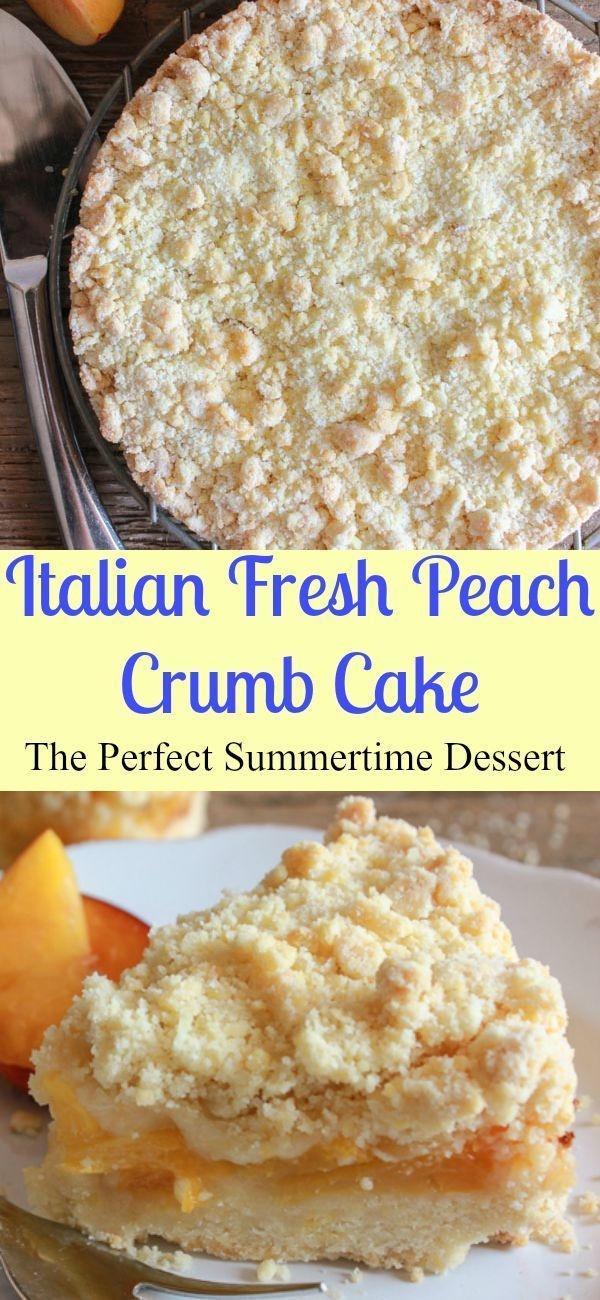 Fresh Peach Desserts Recipes  Italian Fresh Peach Crumb Cake a delicious easy fresh