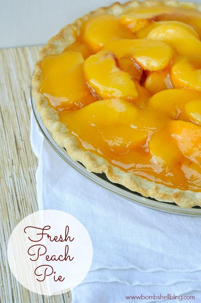 Fresh Peach Desserts Recipes  Peach Pie Recipe Uses Fresh Peaches Perfect Entertaining