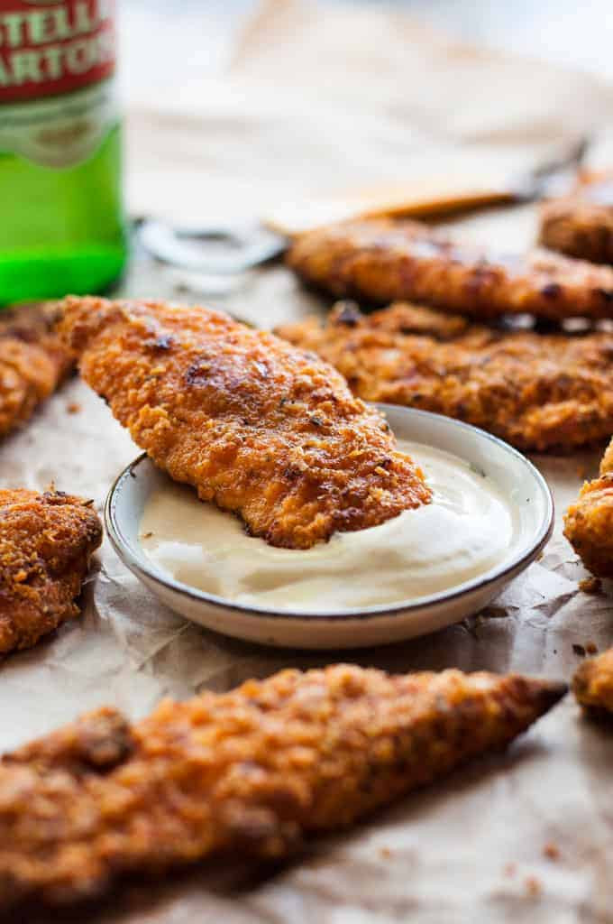 Fried Chicken Tenders  KFC Baked Oven Fried Chicken Tenders