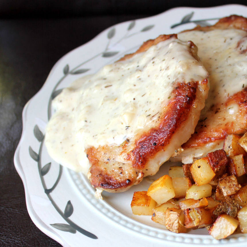 Fried Pork Chops And Gravy  Skillet Pork Chops and Gravy with Fried Potatoes