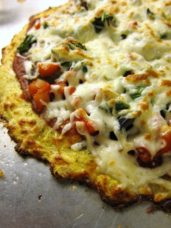 Frozen Cauliflower Pizza  Gluten free Try this cancer fighting cauliflower pizza crust