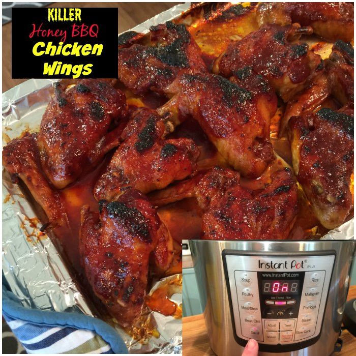 Frozen Chicken Wings Instant Pot  Instant Pot Recipes Honey BBQ Wings made in an Electric