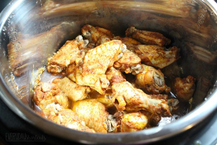 Frozen Chicken Wings Instant Pot  Instant Pot BBQ Chicken Wings Everyday Shortcuts