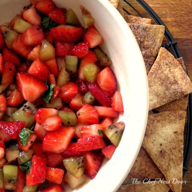 Fruit Salsa Recipe  Fruit Salsa with Cinnamon Sugar Tortilla Chips