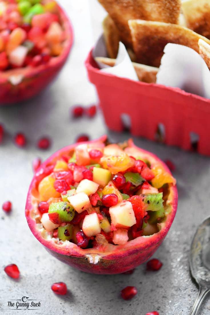 Fruit Salsa Recipe  Pomegranate Fruit Salsa The Gunny Sack