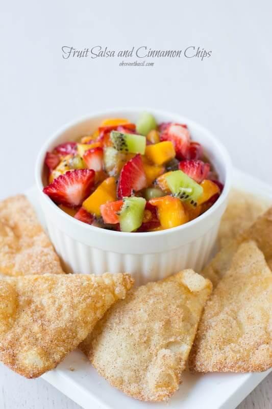 Fruit Salsa Recipe  Fruit Salsa Oh Sweet Basil