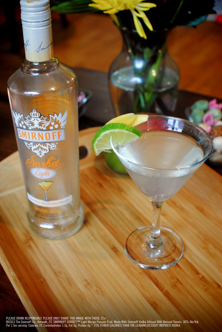 Fruity Drinks With Vodka  20 best Smirnoff Sorbet Light Mango Passion Fruit images