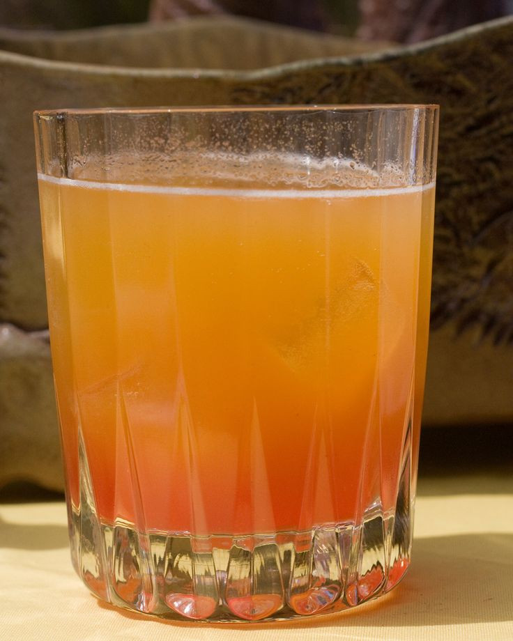 Fruity Drinks With Vodka  Sparkling Peach Sunrise Mocktail Recipe