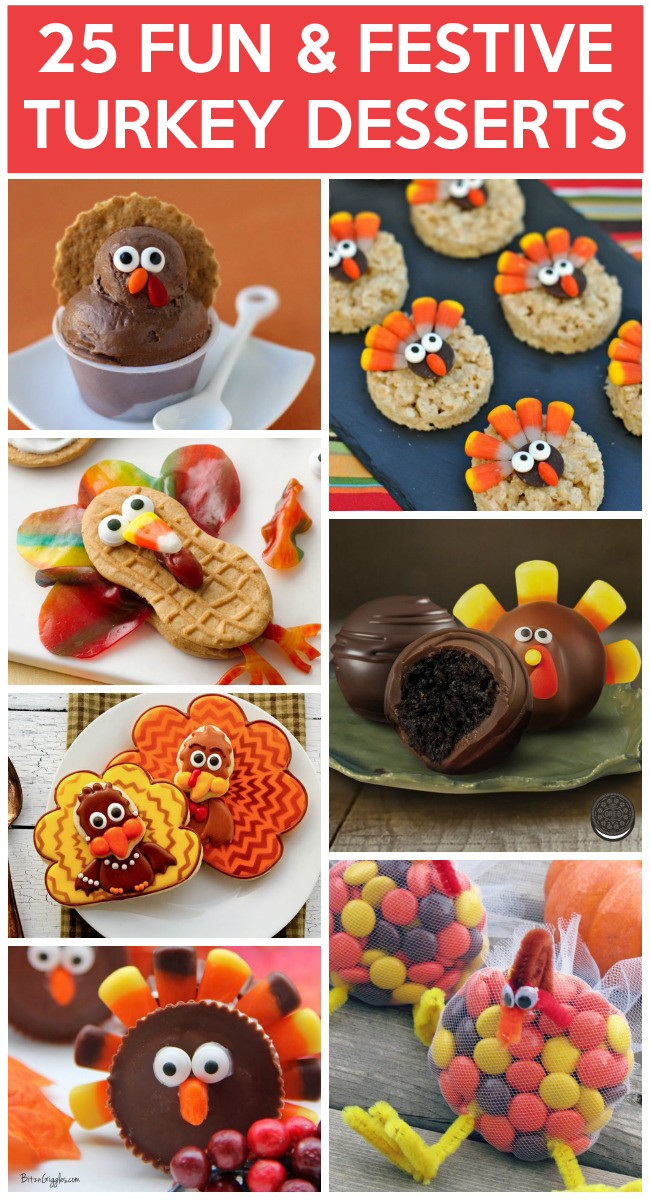 Fun Desserts To Make With Kids  25 Yummy Turkey Desserts To Make