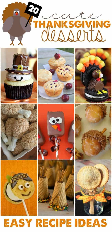Fun Thanksgiving Desserts  Cute Thanksgiving Desserts Easy Recipe Ideas