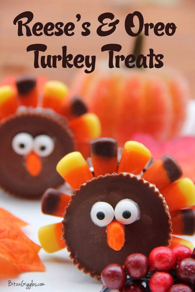 Fun Thanksgiving Desserts  Reese s & Oreo Turkey Treats