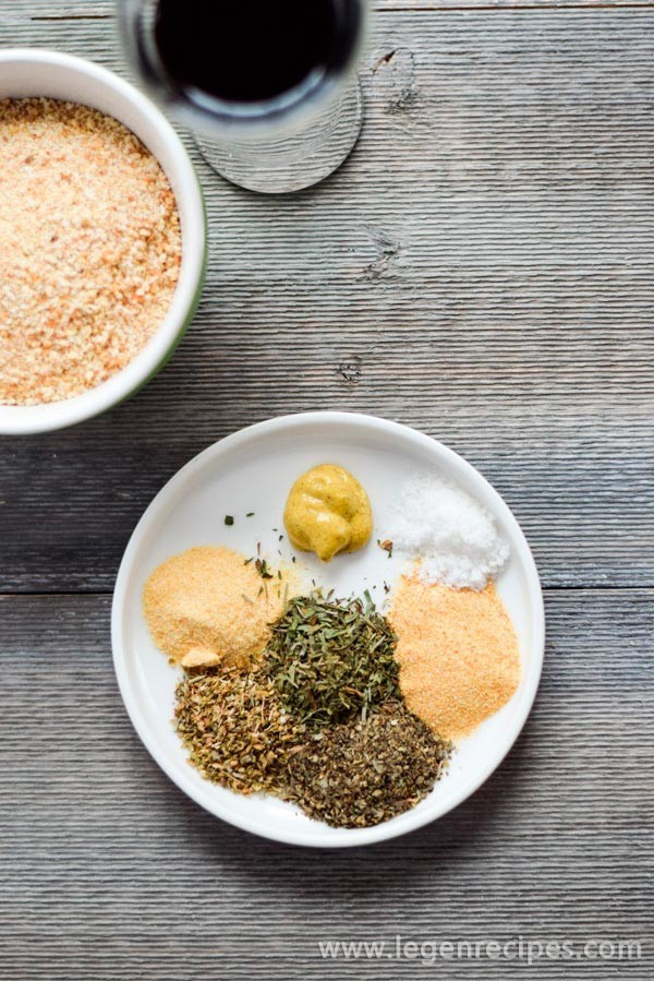 Garlic Bread With Garlic Powder  Mustard soy sauce garlic powder onion powder and bread