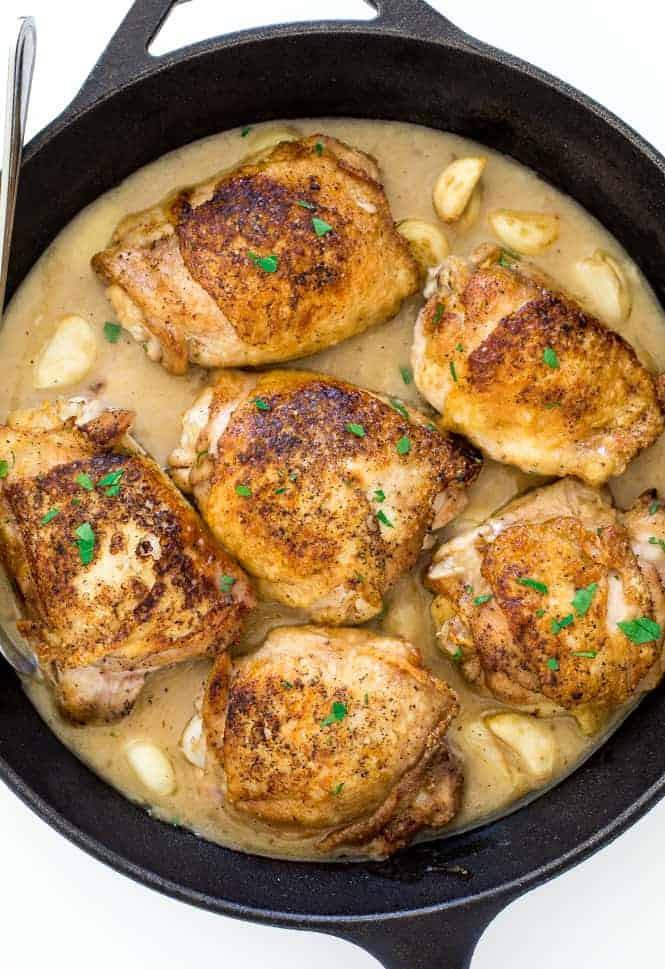 Garlic Chicken Thighs  Chicken with 40 Cloves of Garlic