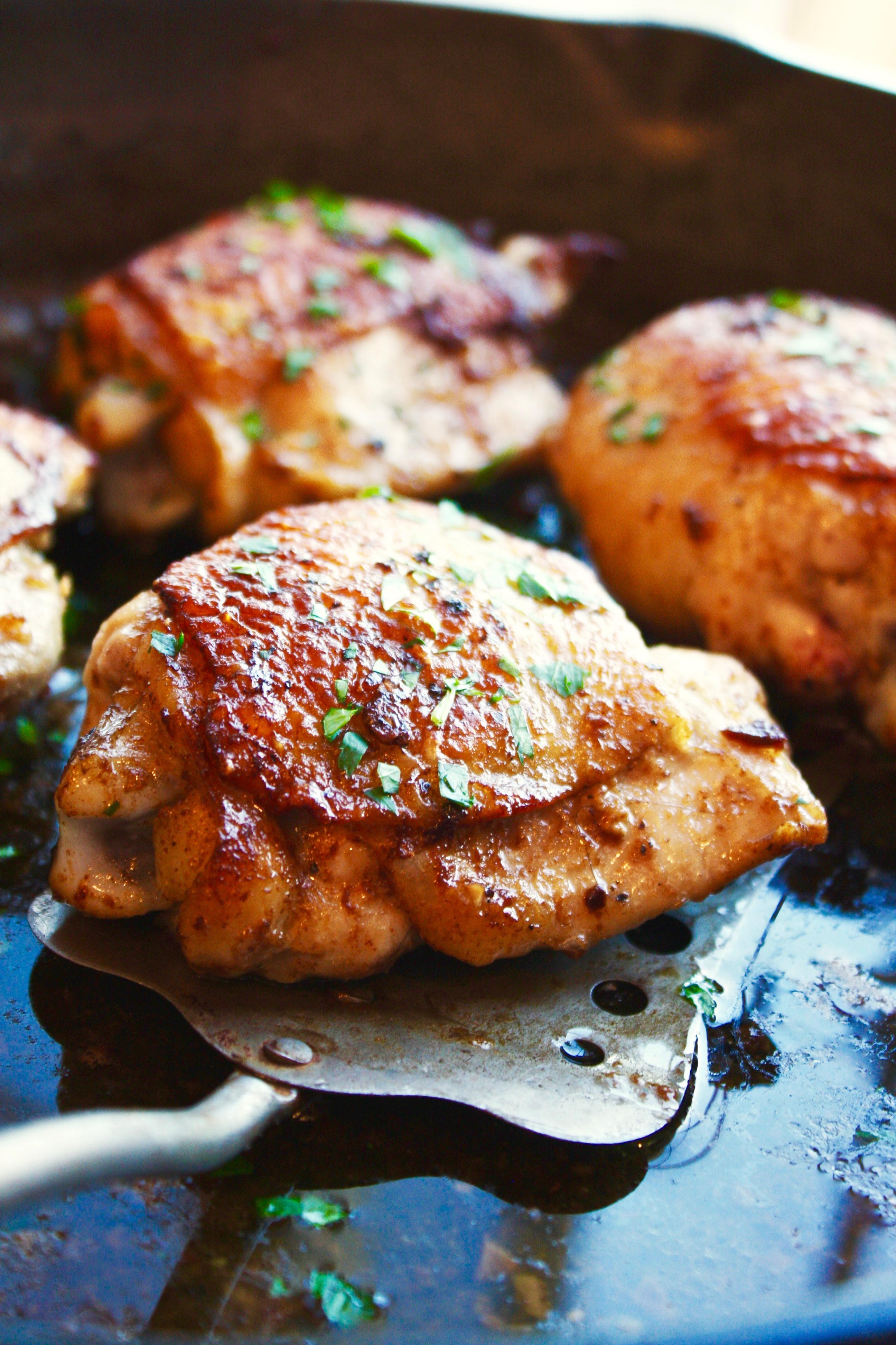 Garlic Chicken Thighs  Garlic Butter Chicken Thighs