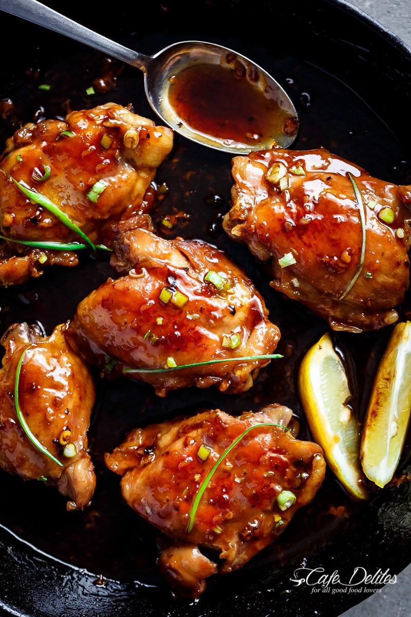 Garlic Chicken Thighs  Weekly Menu Plan 73 The Girl Who Ate Everything