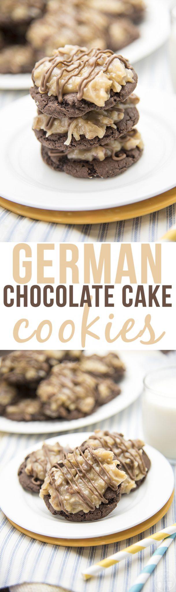 German Chocolate Cake Cookies  German Chocolate Cake Cookies Like Mother Like Daughter
