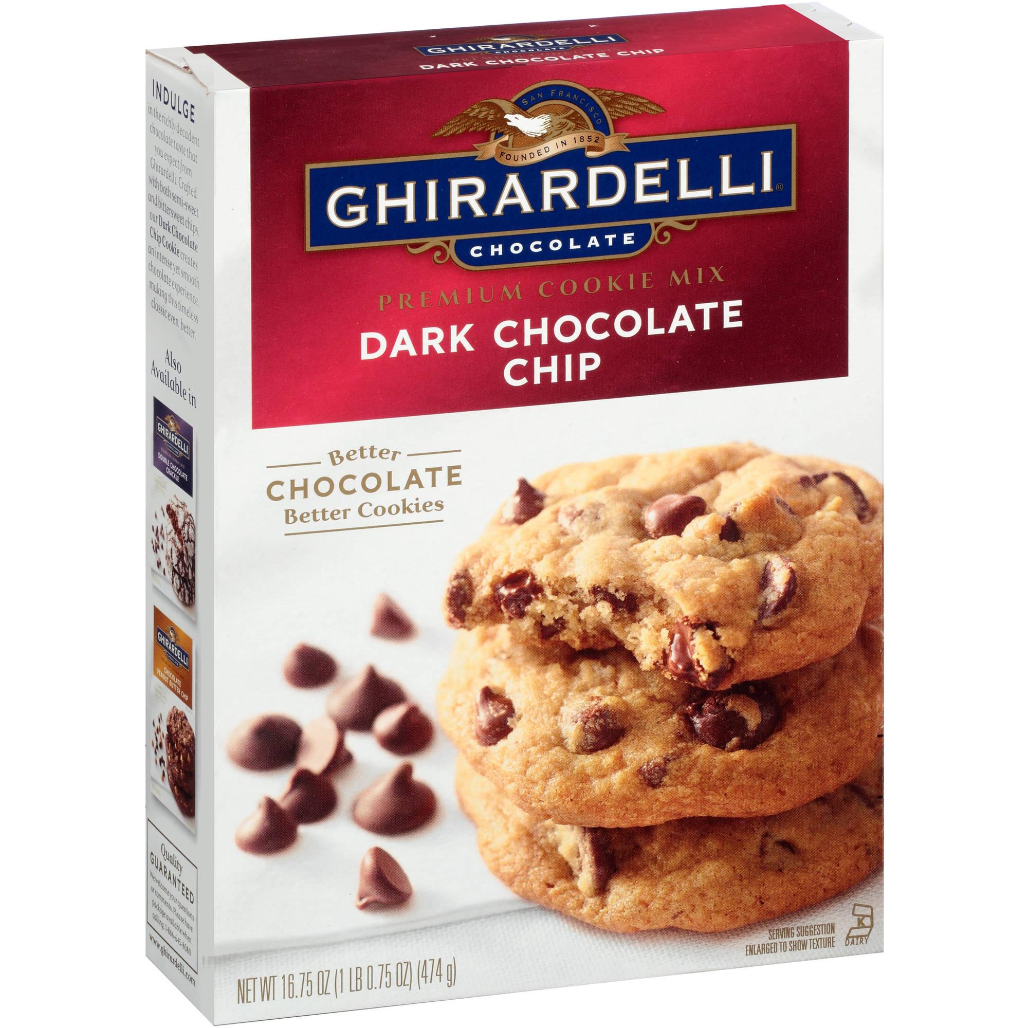 Ghirardelli Chocolate Chip Cookies  ghirardelli dark chocolate chip cookie mix