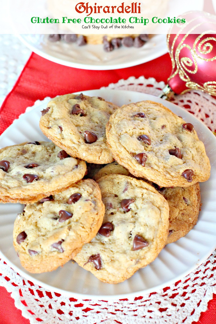 Ghirardelli Chocolate Chip Cookies  Ghirardelli Gluten Free Chocolate Chip Cookies Can t
