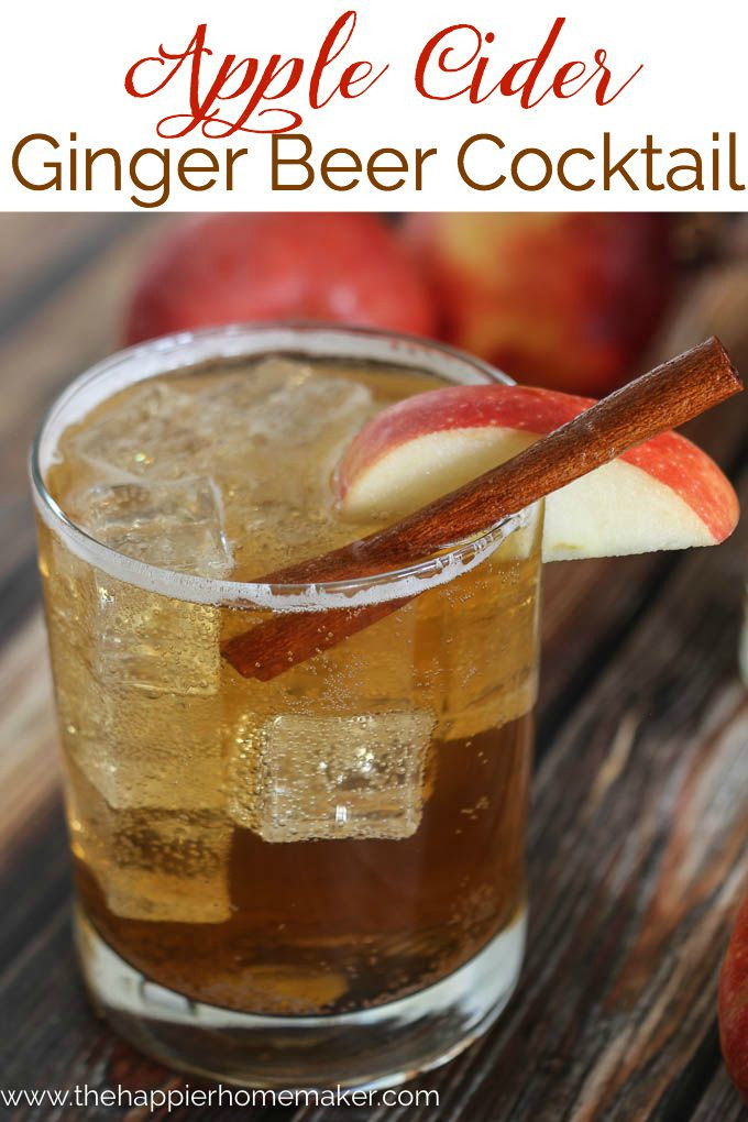 Ginger Beer Cocktails  Apple Cider Ginger Beer Cocktail