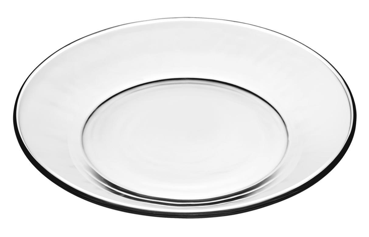 Glass Dessert Plates  Libbey Crisa Moderno Glass Salad Dessert Plate 7 1 2 Inch