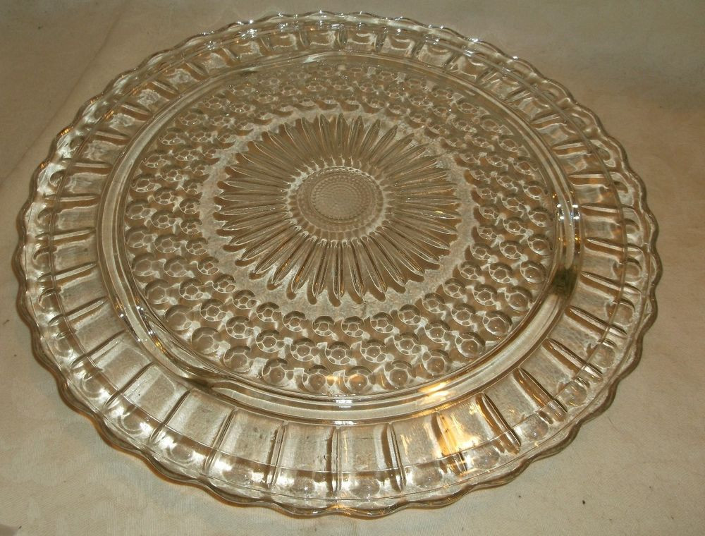 Glass Dessert Plates  FEDERAL GLASS 2889 Clear Round Cake Pastry Dessert Plate