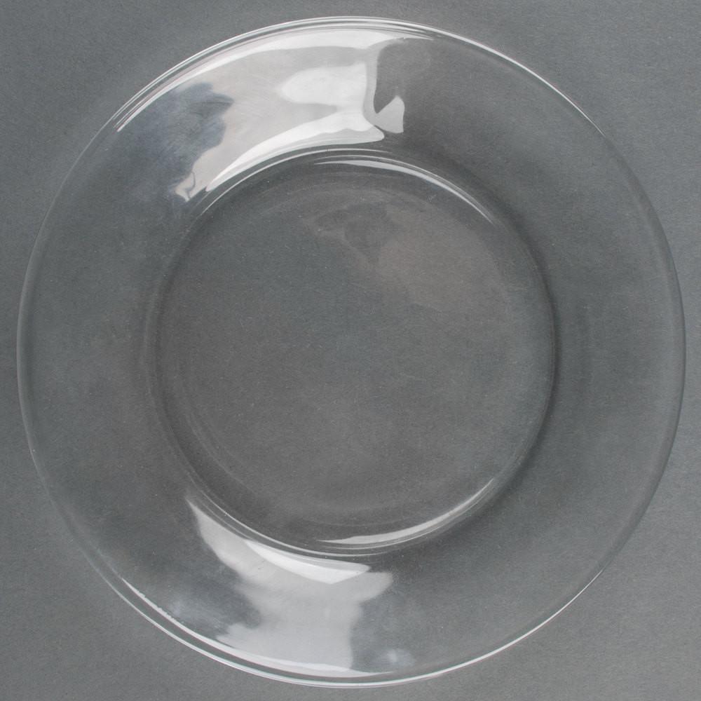 """Glass Dessert Plates  Libbey Moderno 7 1 2"""" Glass Salad Dessert Plate"""