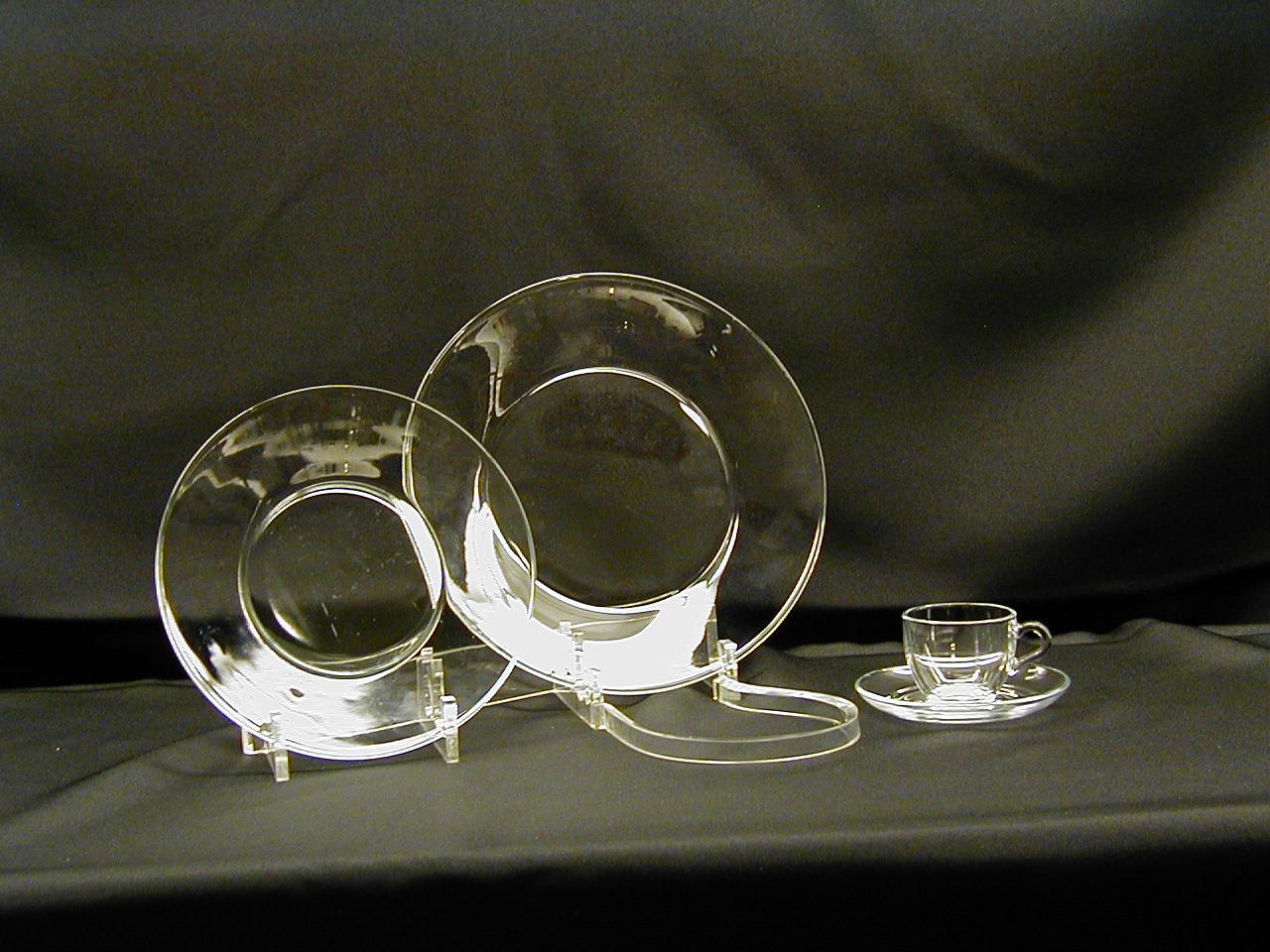 Glass Dinner Plates  Glass Dinnerware Rental Glass Dinner Plates & Bowls