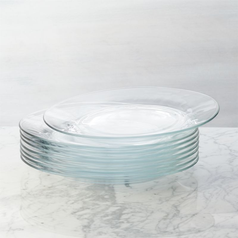 Glass Dinner Plates  Set of 8 Moderno Dinner Plates Reviews