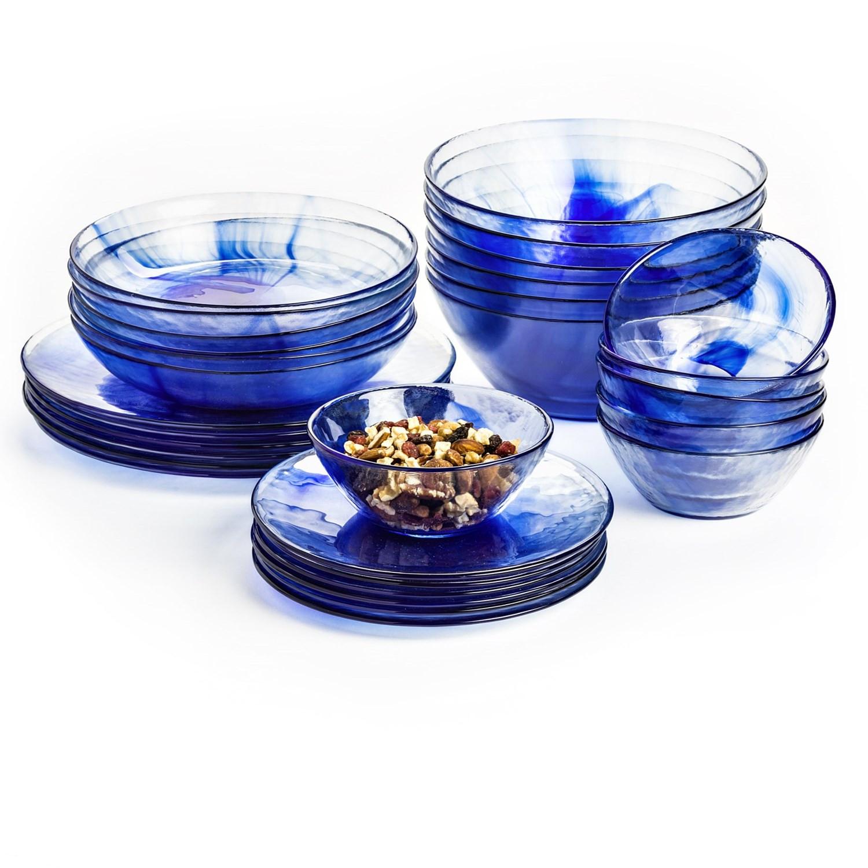 Glass Dinner Plates  Bormioli Rocco Murano Dinner Plates Tempered Glass Set