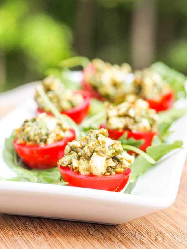 Gluten And Dairy Free Appetizers  Avocado Pesto Stuffed Tomato Gluten Free Dairy Free