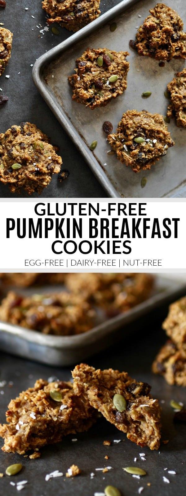 Gluten Free Breakfast Cookies  Gluten free Pumpkin Breakfast Cookies nut free The