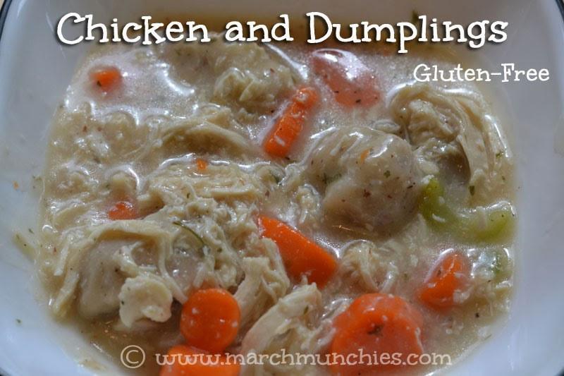 Gluten Free Chicken And Dumplings  March Munchies Chicken and Dumplings Gluten Free