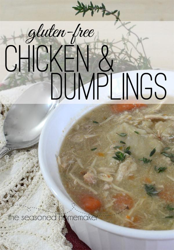 Gluten Free Chicken And Dumplings  The Seasoned HomemakerEasy Gluten Free Chicken & Dumplings
