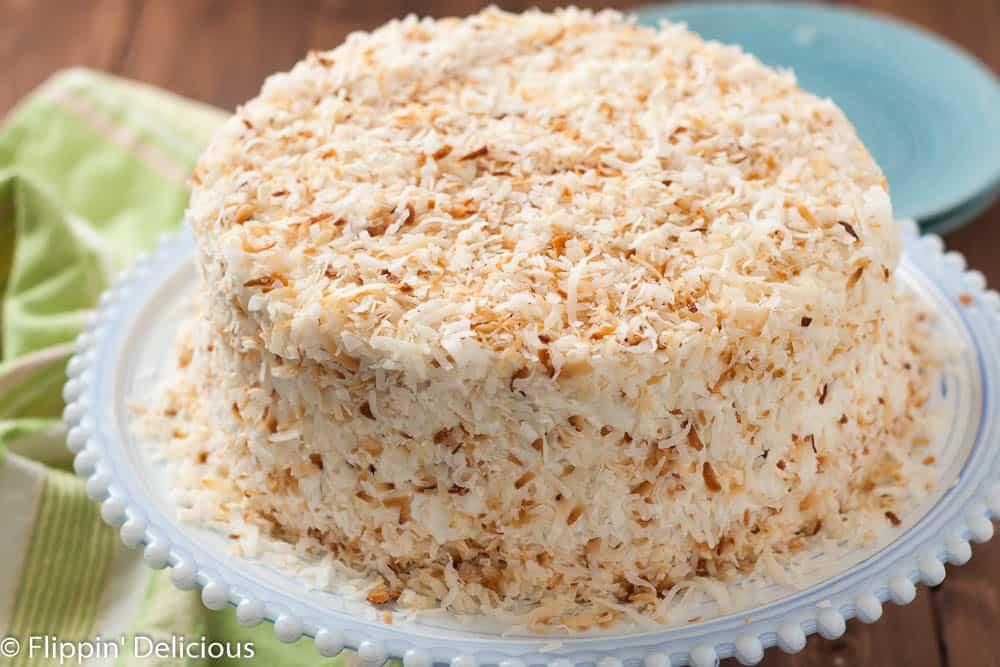 Gluten Free Coconut Cake  Dairy Free Gluten Free Coconut Layer Cake