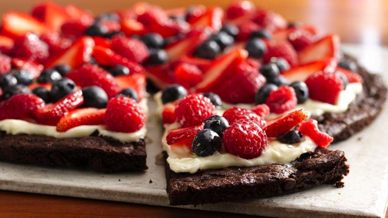 Gluten Free Desserts Recipes  Gluten Free Brownie and Berries Dessert Pizza recipe from