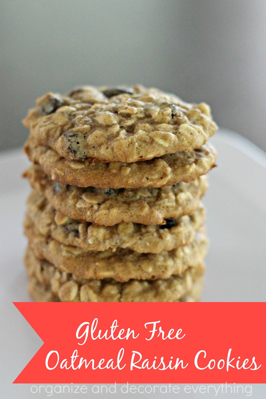 Gluten Free Oatmeal Raisin Cookies  Gluten Free Oatmeal Raisin Cookies Organize and Decorate